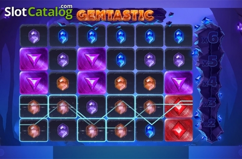 Win screen. Gemtastic (Video Slot from Red Tiger)