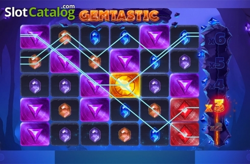 Win screen 2. Gemtastic (Video Slot from Red Tiger)