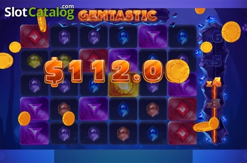 Win screen 3. Gemtastic (Video Slot from Red Tiger)