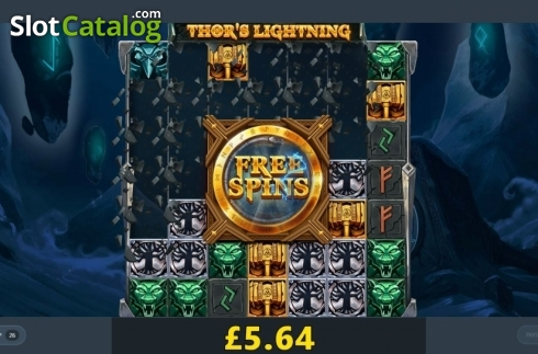 Reel Screen. Thor's Lightning (Video Slot from Red Tiger)