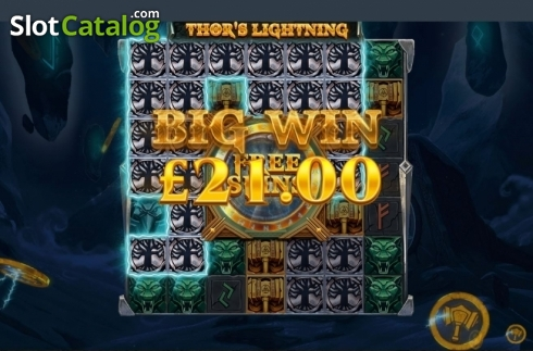 Big Win. Thor's Lightning (Video Slot from Red Tiger)