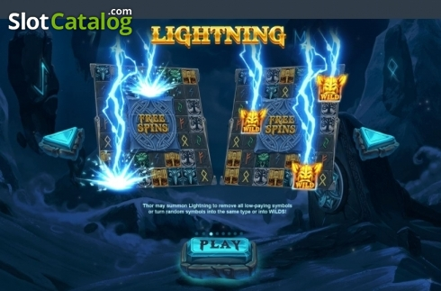 Features. Thor's Lightning (Video Slot from Red Tiger)