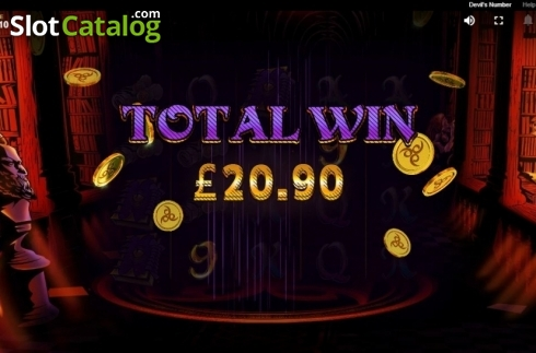 Free Spins Win. Devil's Number (Video Slot from Red Tiger)