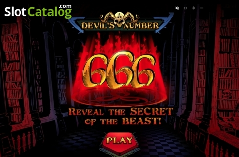Start Screen. Devil's Number (Video Slot from Red Tiger)