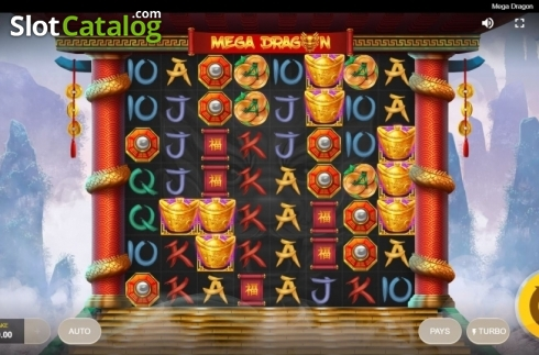 Reel Screen. Mega Dragon (Video Slot from Red Tiger)
