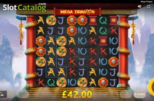 Win Screen. Mega Dragon (Video Slot from Red Tiger)
