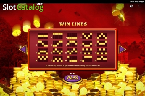 Paylines. Reel King Mega (Video Slots from Red Tiger)