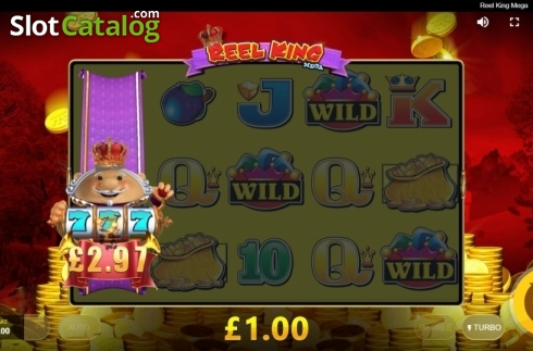 Win Screen 3. Reel King Mega (Video Slots from Red Tiger)