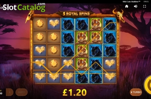 Free Spins 2. Wild Cats Multiline (Video Slot from Red Tiger)