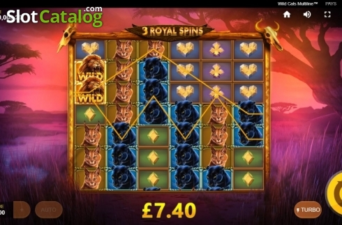 Free Spins 3. Wild Cats Multiline (Video Slot from Red Tiger)