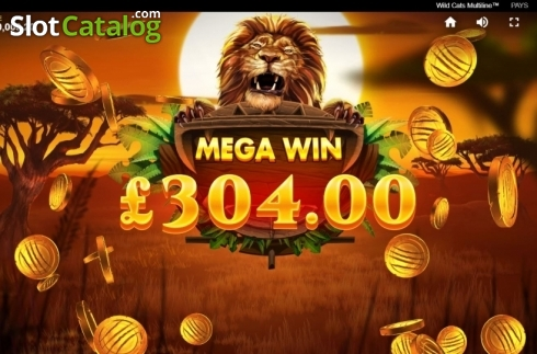 Mega Win. Wild Cats Multiline (Video Slot from Red Tiger)