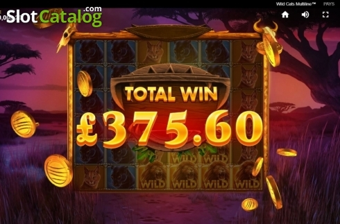 Total Win. Wild Cats Multiline (Video Slot from Red Tiger)