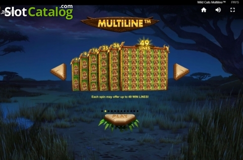 Game Rules 1. Wild Cats Multiline (Video Slot from Red Tiger)