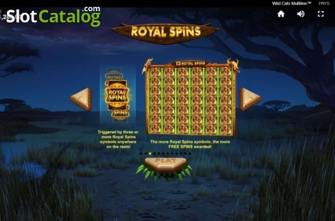 Game Rules 2. Wild Cats Multiline (Video Slot from Red Tiger)