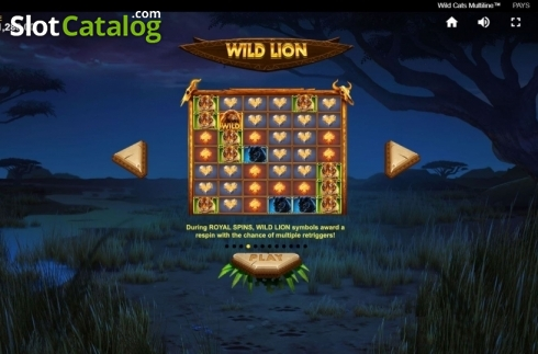Game Rules 3. Wild Cats Multiline (Video Slot from Red Tiger)