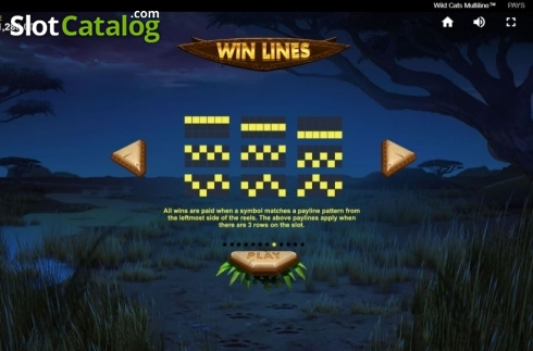 Paylines 2. Wild Cats Multiline (Video Slot from Red Tiger)
