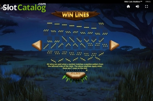 Paylines 6. Wild Cats Multiline (Video Slot from Red Tiger)