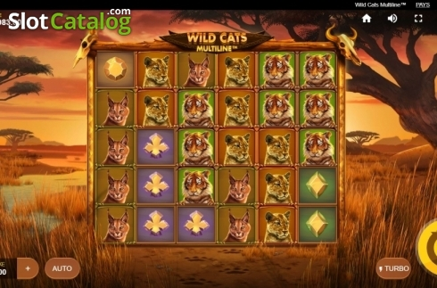 Reel Screen. Wild Cats Multiline (Video Slot from Red Tiger)