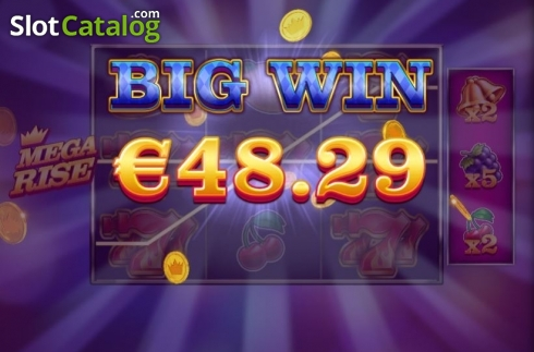 Big Win. Mega Rise (Video Slot from Red Tiger)