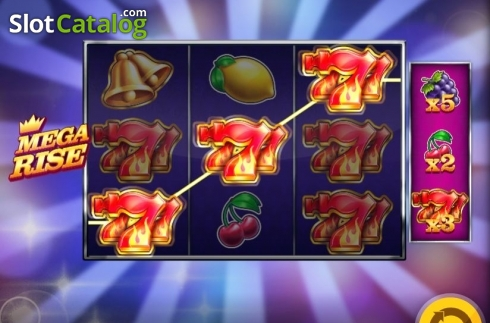 Win Screen 2. Mega Rise (Video Slot from Red Tiger)