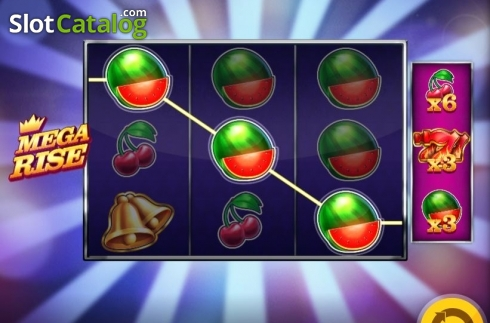 Win Screen 3. Mega Rise (Video Slot from Red Tiger)