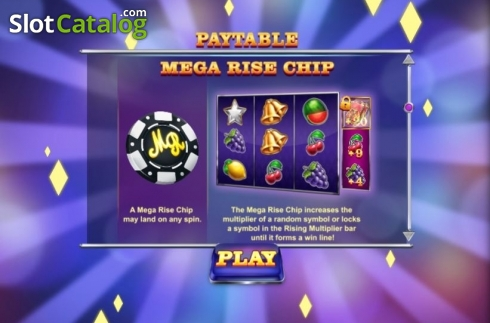 Features 2. Mega Rise (Video Slot from Red Tiger)