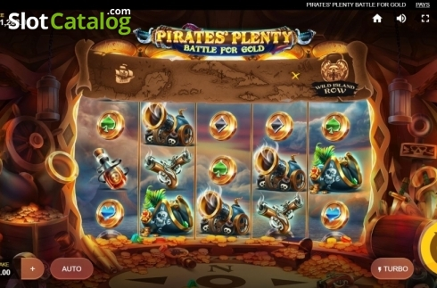 Reel Screen. Pirates Plenty Battle for Gold (Video Slots from Red Tiger)
