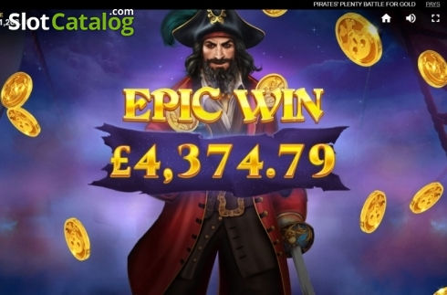 Epic Win. Pirates Plenty Battle for Gold (Video Slots from Red Tiger)