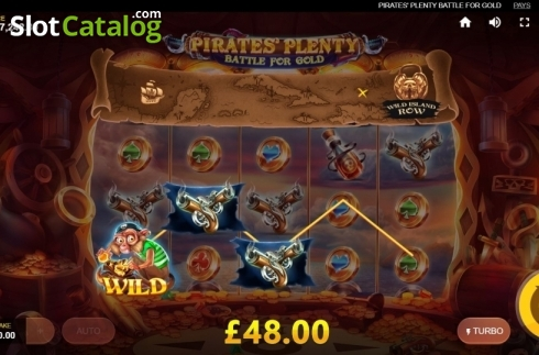 Win Screen. Pirates Plenty Battle for Gold (Video Slots from Red Tiger)