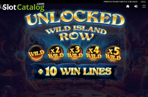 Wild Island Row 1. Pirates Plenty Battle for Gold (Video Slots from Red Tiger)