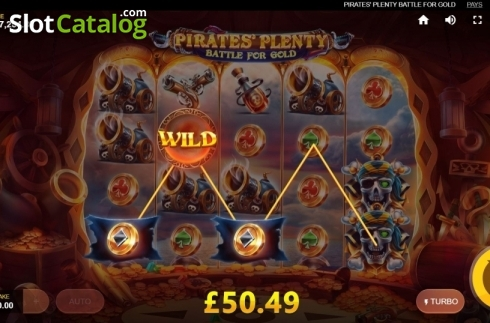 Wild Island Row 3. Pirates Plenty Battle for Gold (Video Slots from Red Tiger)
