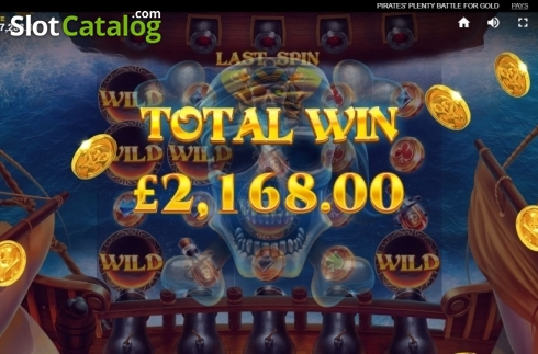 Total Win. Pirates Plenty Battle for Gold (Video Slots from Red Tiger)