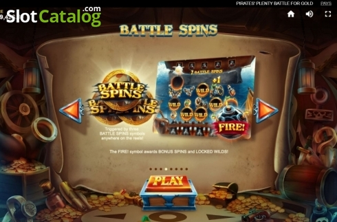 Game Rules 4. Pirates Plenty Battle for Gold (Video Slots from Red Tiger)