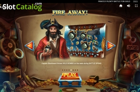 Game Rules 5. Pirates Plenty Battle for Gold (Video Slots from Red Tiger)