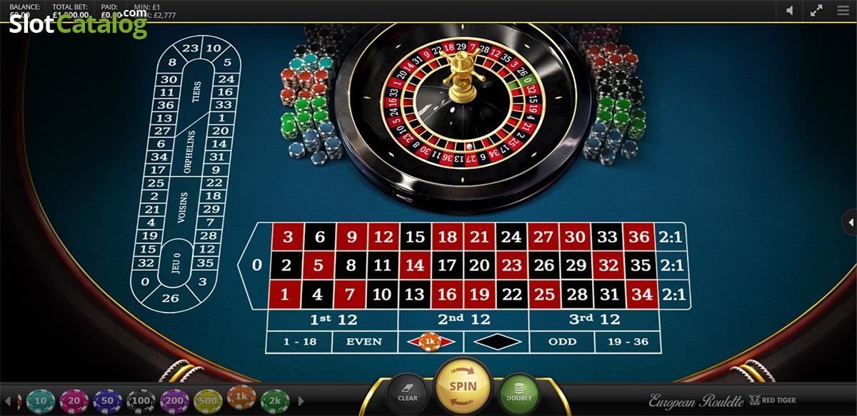Spiele European Roulette (Red Tiger) - Video Slots Online