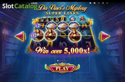 Skjerm2. Da Vinci's Mystery (Video Slot fra Red Tiger)