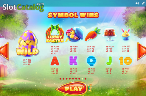 Paytable 8. Lucky Easter (Video Slot from Red Tiger)