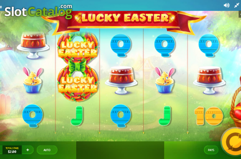 Screen 1. Lucky Easter (Video Slot from Red Tiger)