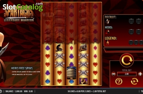 Reel Screen. Spartacus Legendary Warrior (Video Slots from Red7)