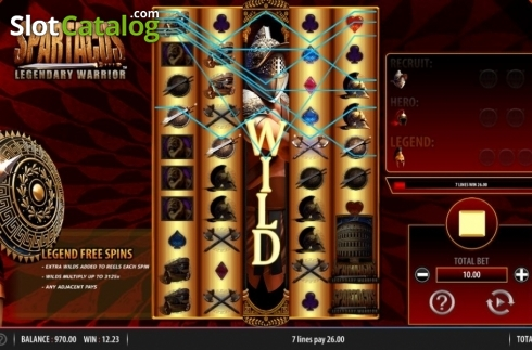 Win Screen. Spartacus Legendary Warrior (Video Slots from Red7)