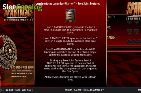 Scatter. Spartacus Legendary Warrior (Video Slots from Red7)