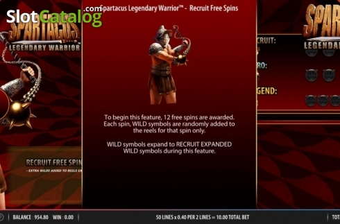 Feature 1. Spartacus Legendary Warrior (Video Slots from Red7)