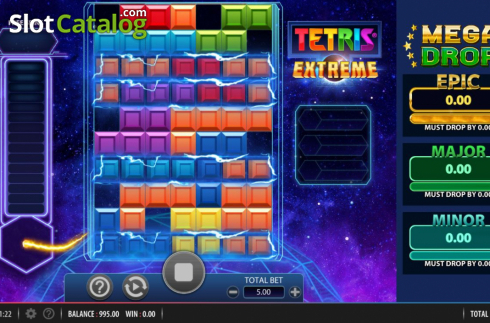 Win Screen. Tetris Extreme (Video Slots from Red7)
