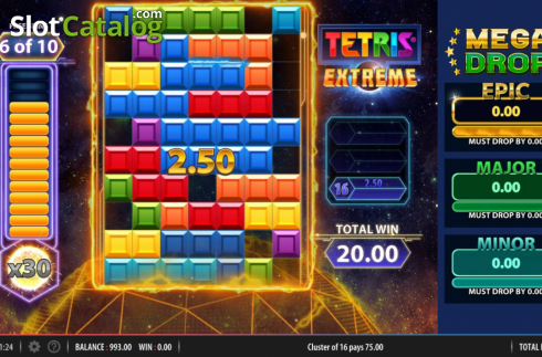 Ecran6. Tetris Extreme (Slot video din Red7)