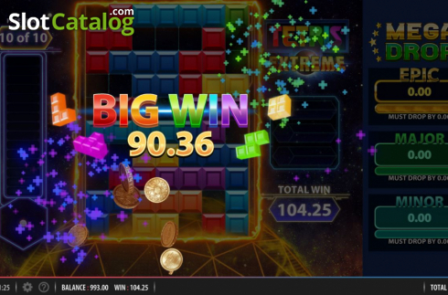 Big Win. Tetris Extreme (Video Slots from Red7)
