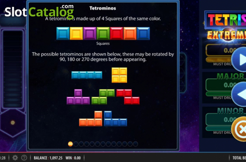 Tetrominos. Tetris Extreme (Video Slots from Red7)