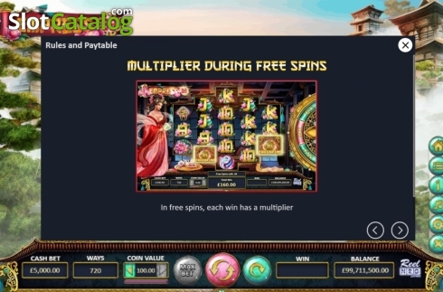 Features. Empress88 (Video Slot from ReelNRG)