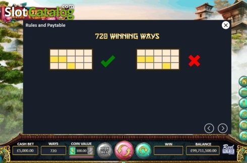 Paylines. Empress88 (Video Slot from ReelNRG)