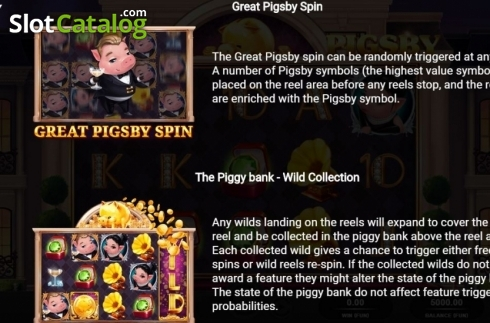 Respins and Wild Collections. The Great Pigsby (Video Slot from Relax Gaming)