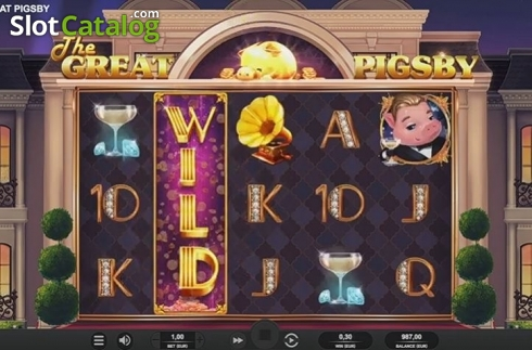 Expanding Wild. The Great Pigsby (Video Slot from Relax Gaming)